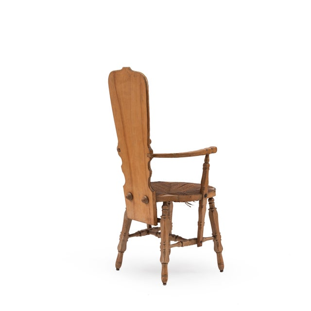 19th Century French Provincial Crane Arm Chair For Sale - Image 5 of 7