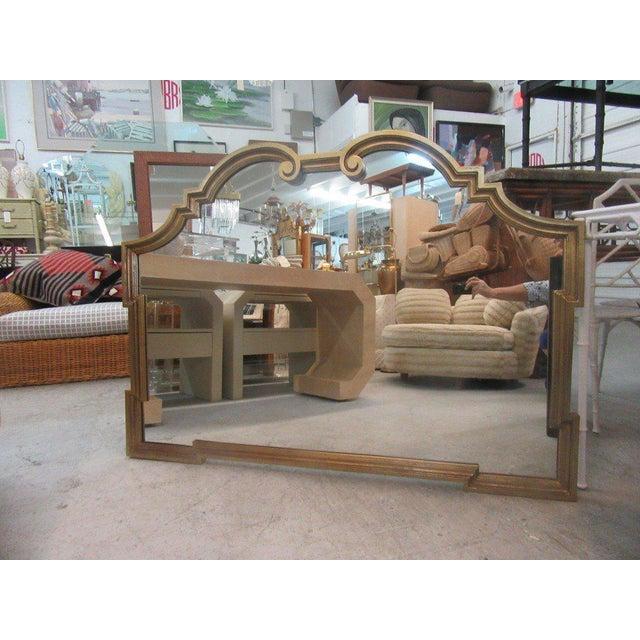 Gold Gilt Hollywood Regency Mirror - Image 3 of 7