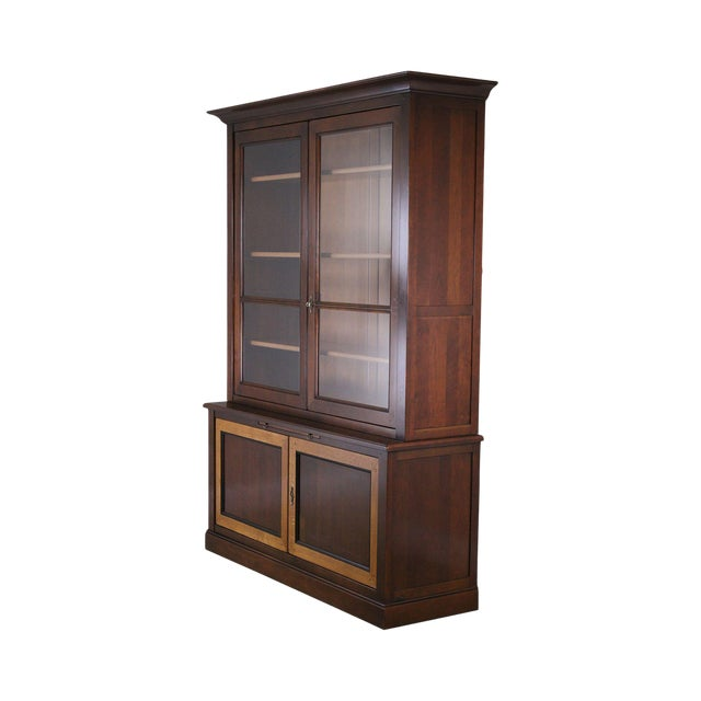 Grange French Cherry Louis Philippe Style Bookcase Cabinet For Sale