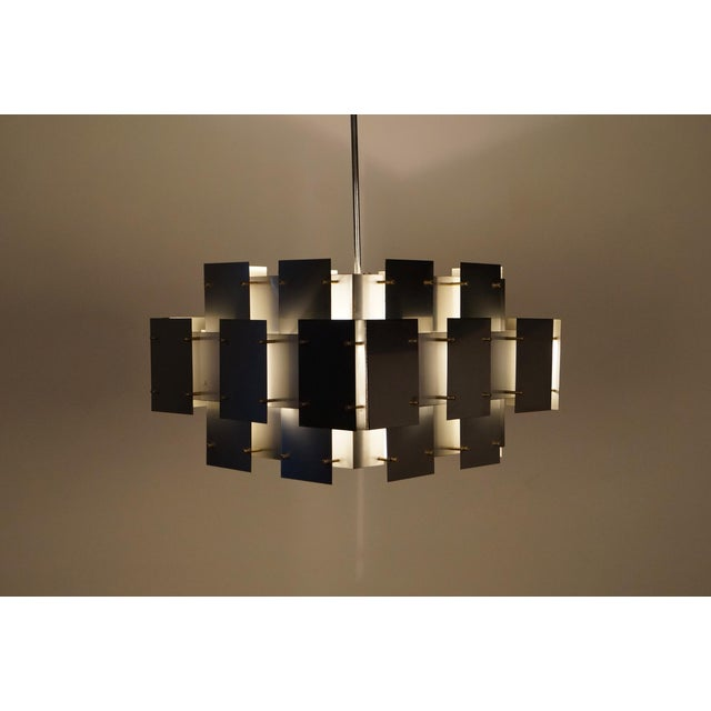 "Vintage ""Cityscape"" Chandelier by Robert Sonneman - Image 6 of 7"