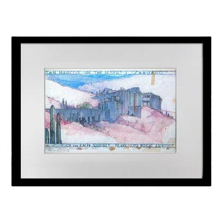 Frank Lloyd Wright Lithograph Limited Edition Ralph Cudney House, Framed For Sale
