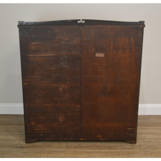1900 - 1909 Antique Gothic Inspired Mahogany 2 Door Bookcase For Sale - Image 5 of 12