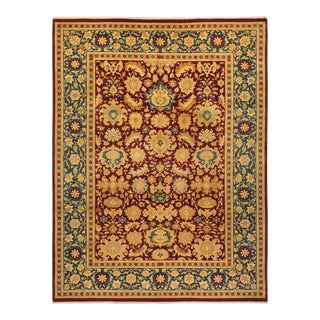 """Mogul, One-Of-A-Kind Hand-Knotted Area Rug - Red, 10' 3"""" X 13' 5"""" For Sale"""
