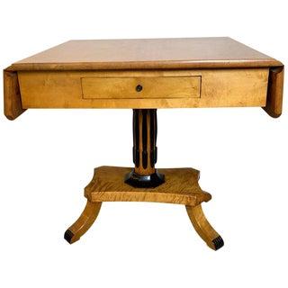 19th Century Biedermeier Northern European Drop Leaf Sofa Table For Sale
