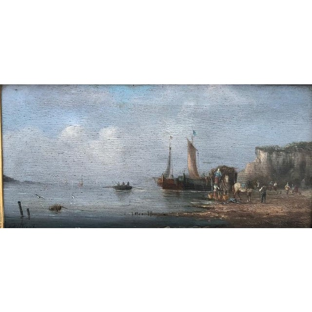 Gilbert Late 19th Century Oil Seascape Paintings - a Pair For Sale - Image 4 of 9