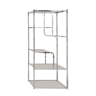 Hollywood Regency Chrome Brass Etagere by Milo Baughman For Sale