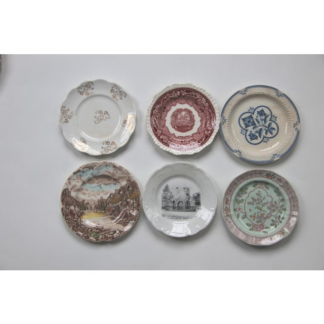 Mismatched Transfer Ware Plates - Set of 12 - Image 3 of 5