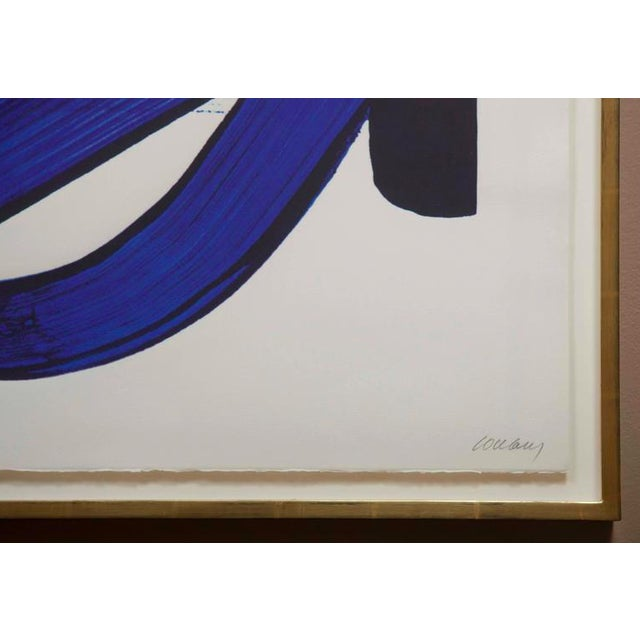 Abstract Lithograph by Pierre Soulages (B. 1919) From the Official Arts Portfolio of XXIV Olympiad For Sale - Image 3 of 10