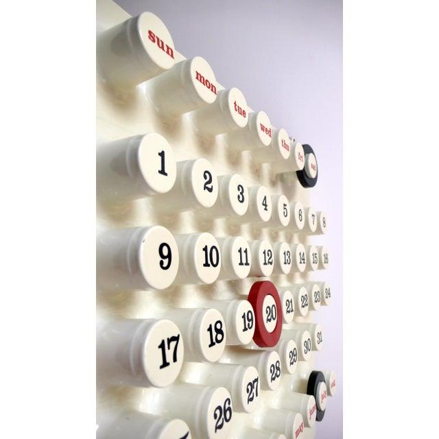Award winning vacuum formed plastic 'Ring O Date' perpetual calendar designed in Italy by Brusasco & Torreta, circa 1970....