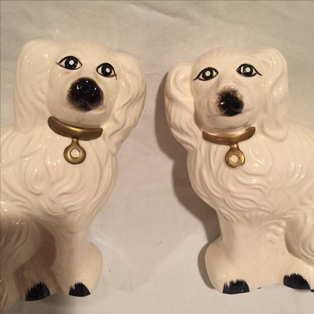 White Porcelain Dogs - A Pair - Image 4 of 6
