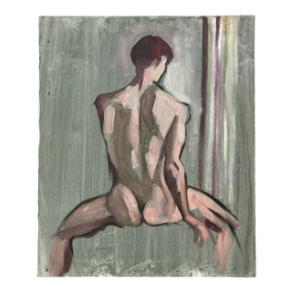 Male Figural Painting Acrylic on Canvas For Sale