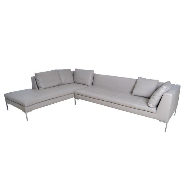 Original B & B Italia Leather Sectional Sofa For Sale - Image 10 of 10