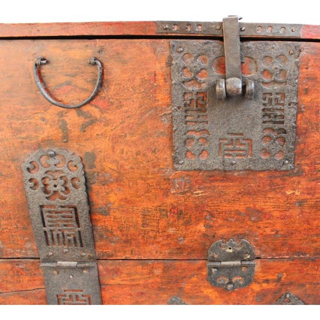 Antique Mongolian Chest For Sale - Image 4 of 4