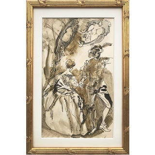 Vintage Russian Watercolor Illustration by Anatoly Itkin For Sale