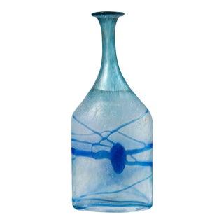 Circa 1970 Art Glass Vase, Bertil Vallien, Kosta Boda, Sweden For Sale