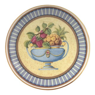 Periwinkle Blue Rimmed Pair of Plates For Sale