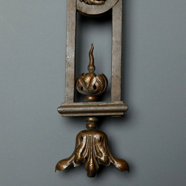 Tall Iron Sconces Made from Antique Balustrades - a Pair For Sale - Image 4 of 9
