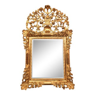 Antique French Regence Gilt Wood Mirror, Circa 1910-1920. For Sale