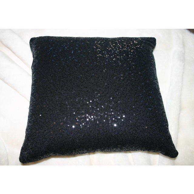 Black Sequin Pillow - Image 3 of 4