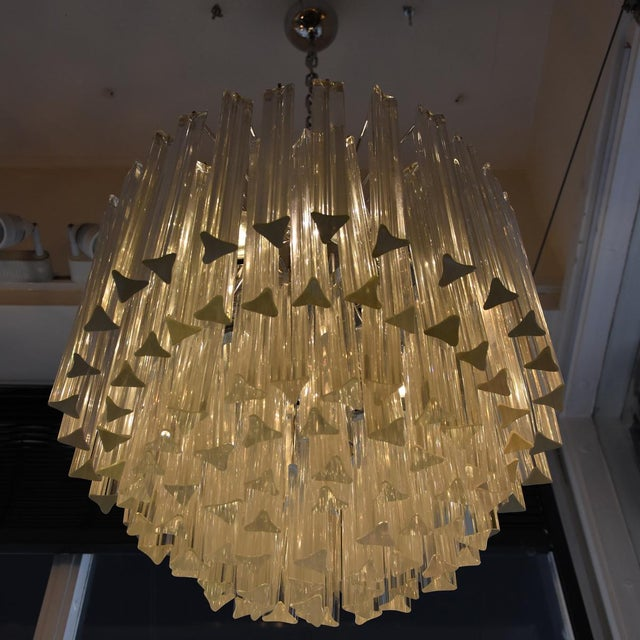 Lovely venini triedri chandelier a pair decaso venini triedri chandelier a pair image 2 of 5 aloadofball Images