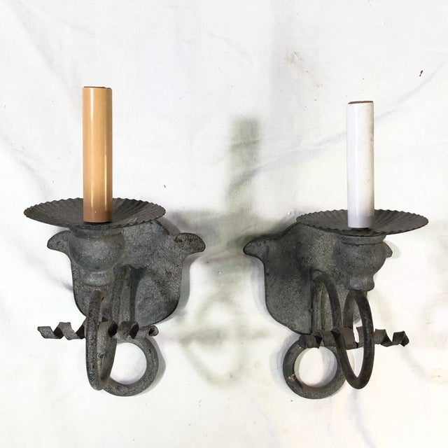Niermann Weeks French Iron One Arm Wall Sconces - Set of 2 For Sale - Image 12 of 12