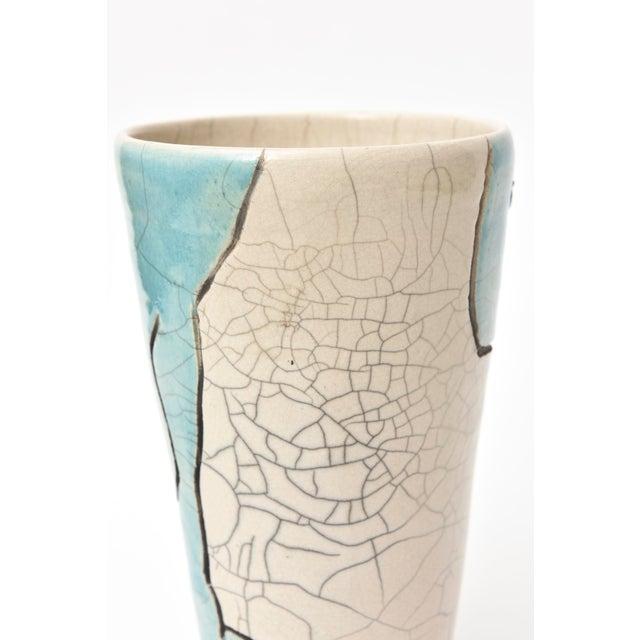 Ceramic Vintage Raku Ceramic Nude Vase, Signed For Sale - Image 7 of 11