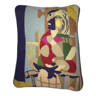 Jonathan Adler Style Vintage Abstract Pablo Picasso Needlepoint Pillow