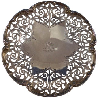 Sterling Silver Serving Plate Pierced Made for Tiffany & Co. #16 For Sale