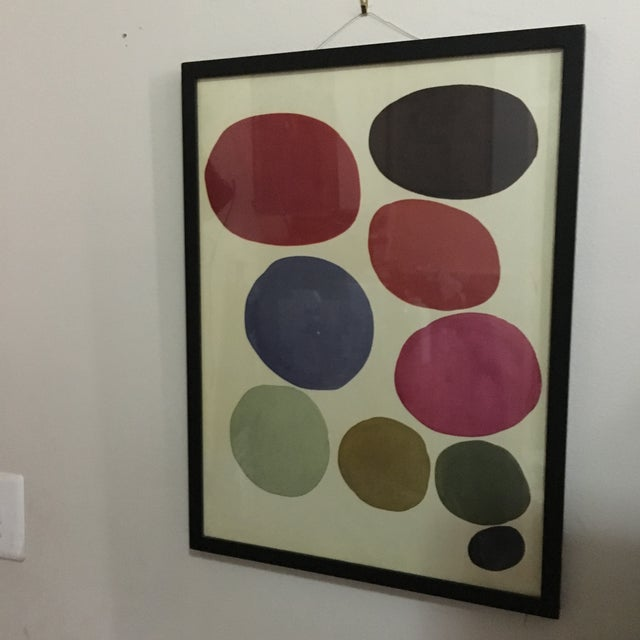 Vintage Colorful Abstract Print - Image 2 of 5