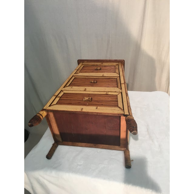 Vintage Rattan and Bamboo Nightstand For Sale In Columbia, SC - Image 6 of 7