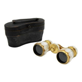 French Mother of Pearl Opera Binoculars For Sale