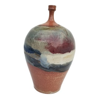 90's Bud Glazed Decorative Vase by Piterh For Sale