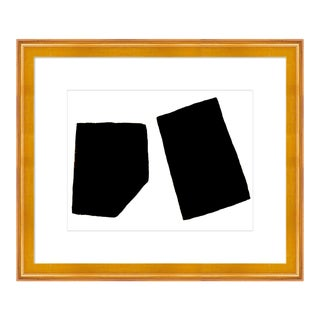 Perfect Pair by Ilana Greenberg in Gold Frame, Small Art Print For Sale