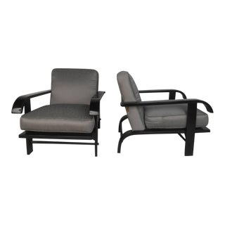 Pair Russell Wright Armchairs For Sale