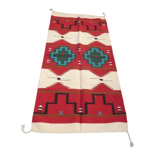 Southwestern Style Geometric Pattern Wool Blanket or Tapestry For Sale