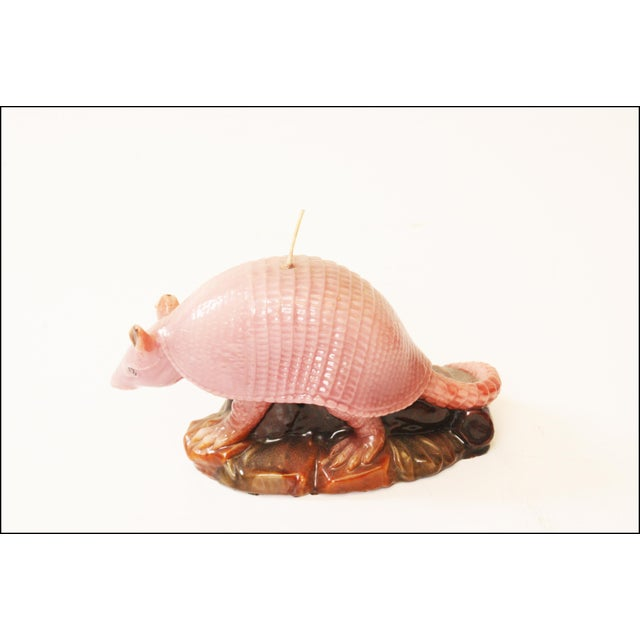 Vintage Pink Armadillo Wax Candle - Image 6 of 11