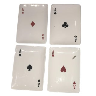 Playing Card Motif Candy Dishes - Set of 4