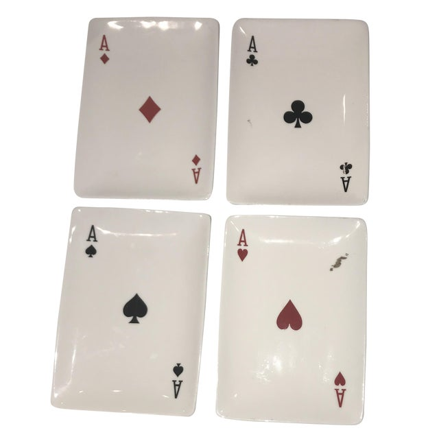 Playing Card Motif Candy Dishes - Set of 4 For Sale