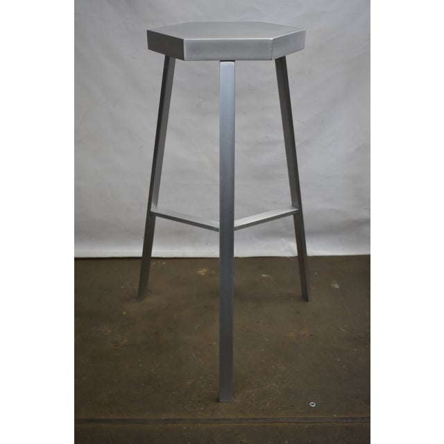 100% recyclable stool fabricated from light and sturdy Aluminum. Designed and fabricated by Oblik studio's Brooklyn...