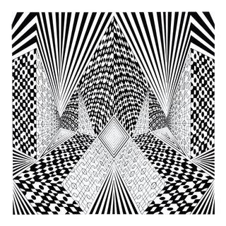 "1960s Roy Ahlgren, ""Conceptual Perspective I"", Op Art Screenprint For Sale"