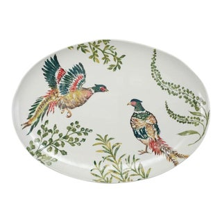 Kenneth Ludwig Chicago Fauna Pheasants Large Oval Platter For Sale