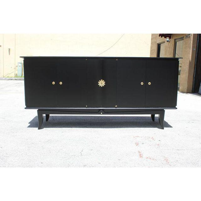 Beautiful Vintage French Art Deco Ebonized Sideboard / Buffet 1940s - Image 9 of 11