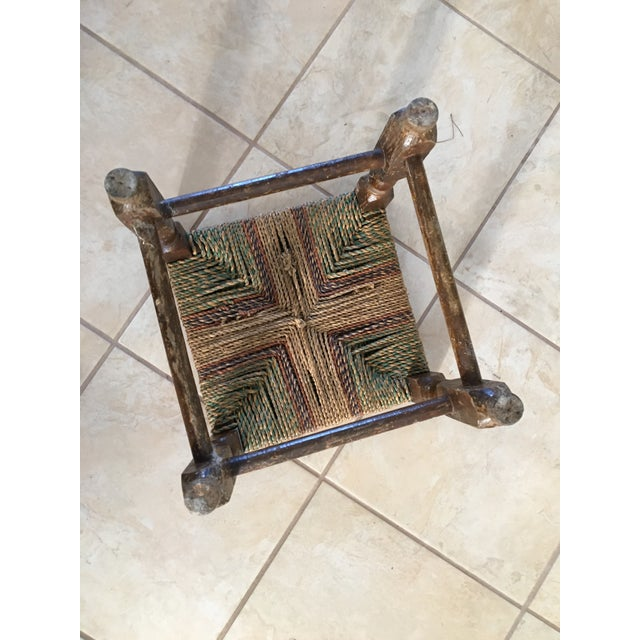 Rustic Rush Woven Small Foot Stool - Image 4 of 6