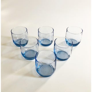Vintage Periwinkle Lowball Tumblers - Set of 6 Preview