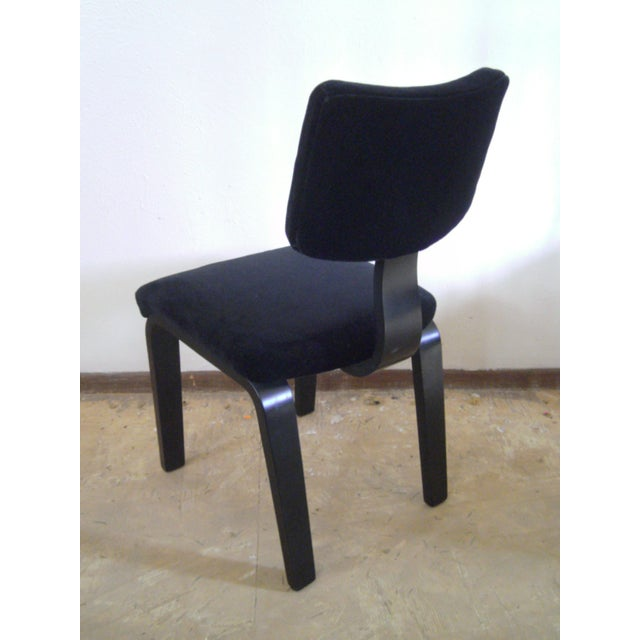Vintage Black on Black Mohair Thonet Chair - Image 5 of 8
