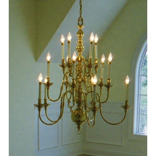 15 Light Faux Candlestick Chandelier - Image 2 of 3