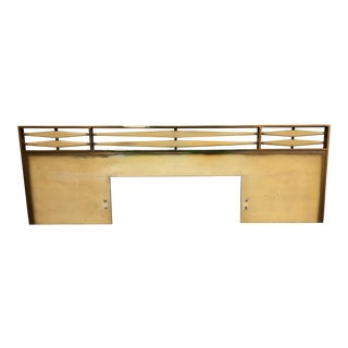 1950s Mid Century Modern Oversized King Size Headboard For Sale