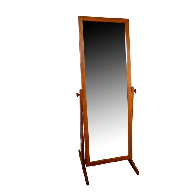 This adjustable 1960s floor mirror stands on its own and is an attractive element in any bedroom or dressing room. Made of...