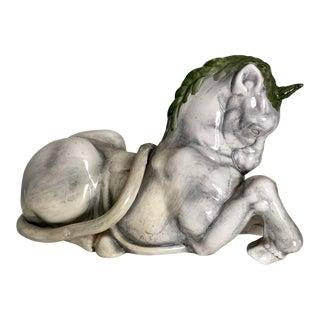 Italian Hand Painted Studio Unicorn Figure For Sale