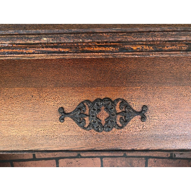 Burnt Umber Early 20th Century Fireplace Surround Mantel For Sale - Image 8 of 13